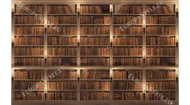 Фототапети библиотека стена ретро модел със стари книги