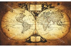 фототапети старинна карта на света 2