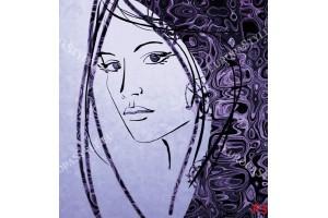 Фототапети арт лице картина в 2 цвята