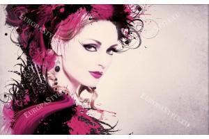 Фототапети арт лице на жена с пера в 3 варианта