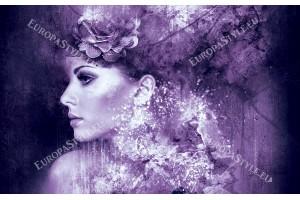 Фототапети оригинален художествен образ жена в 3 цвята
