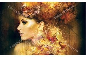 Фототапети оригинален художествен образ жена в 2 цвята
