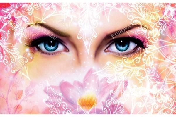 женско лице рисувано с декорация и орнаменти