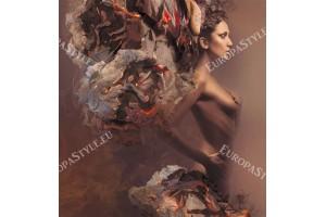 Фототапет арт модел момиче в бронзово