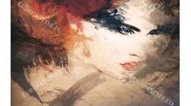 Фототапети прекрасно арт лице на жена в 2 цвята