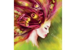 Фототапети рисуван арт модел на женско лице в 2 цвята
