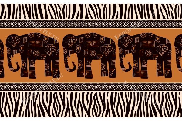 Фототапети арт стена с три слона в 2 разцветки