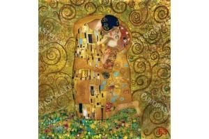 Фототапети рисуван модел по картината Целувката в 2 цвята