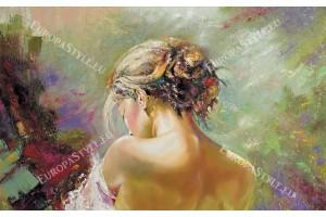 Фототапети рисувана картина женски портрет