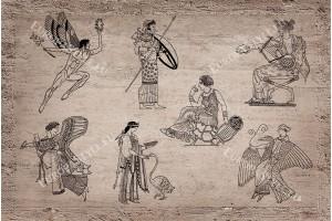 Фототапети антична римска фреска графика