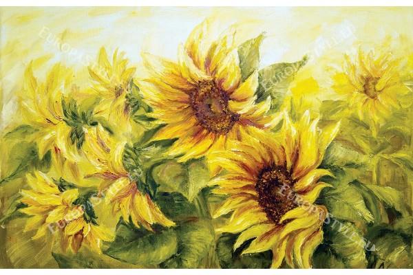 рисувани слънчогледи картина