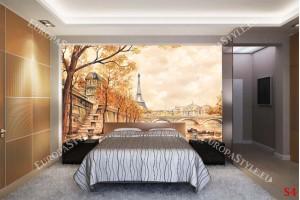 рисуван пейзаж от Париж и Сена