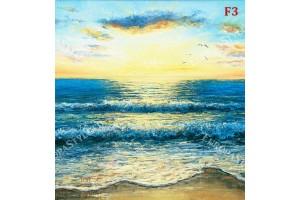 морски залез от  рисувана картина