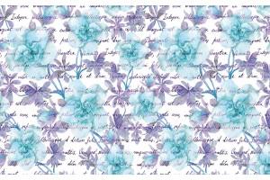 Фототапет нежни цветя с надписи в 2 разцветки