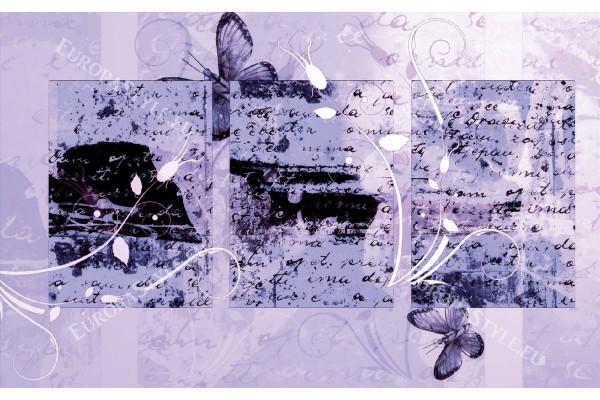Фототапети арт пано с надписи и пеперуди в 2 цветови варианта