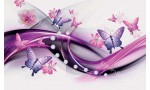 Фототапети абстрактни пеперуди и диаманти в 2 цвята