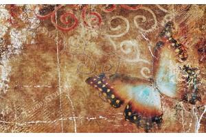 Фототапети арт пано пеперуда винтидж