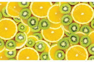 Фототапети цитруси портокали и киви