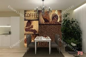 Фототапет колаж с кафе и зърна