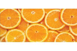 стена от портокали в оранжево