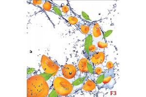 оранжеви плодове и водни капки