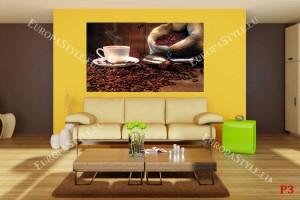 Фототапети композиция с кафе на дървен фон