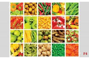 колаж стена от микс зеленчуци