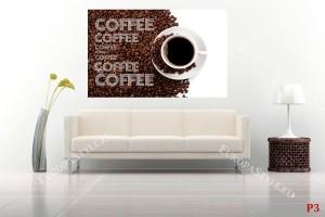 композиция с кафе на зърна и надписи модел 2