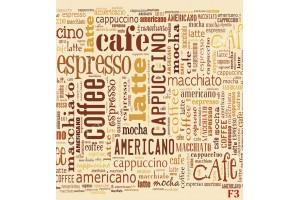 Фототапет надписи с кафе микс