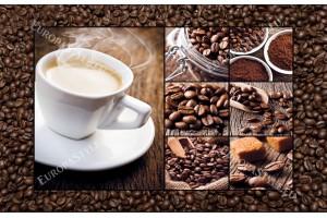 Фототапет кафе на зърна стена и чаша