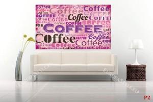 Фототапет арт стена надписи кафе в 2 цвята