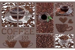 Фототапети колаж от кафе в 2 цвята