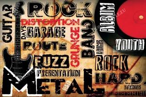 Фототапети Рок-метал колаж
