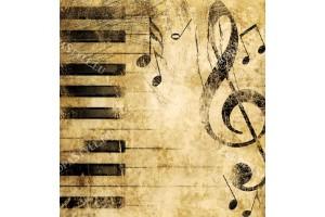 Фототапети пиано с ноти в 2 цвята