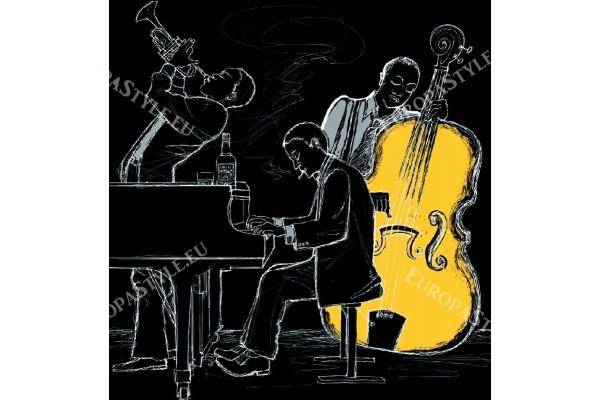 Фототапети група край пиано и виолончело