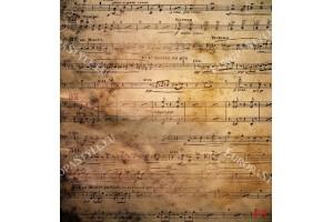 Фототапет ноти върху състарена стена