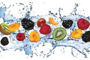 Фототапети плодове с водни капки