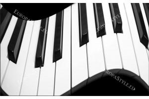 Фототапети абстракция пиано в черно и бяло
