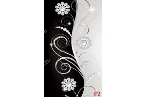 арт пано цветя и орнаменти в черно и сиво