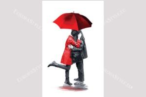 Фототапет двойка влюбени рисуван модел