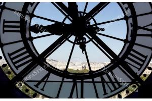 Фототапети часовник от Париж базилика Монмартър