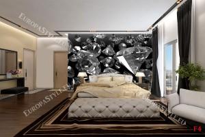 Фототапет черни диаманти