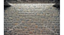 Фототапети каменна стена с арка светлина в 2 цвята