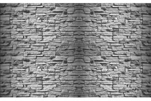 Фототапети имитация на камък нов сив