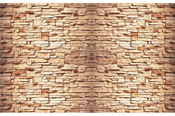 Фототапети камък реден имитация стена оранжев