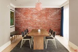 Фототапет тухлена стена стандартни червени тухли