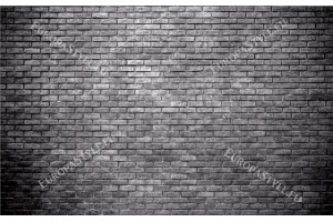 Фототапет тухлена стена стандартни сиво черни тухли