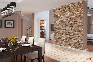 Фототапет имитация на камък стена натурален 2