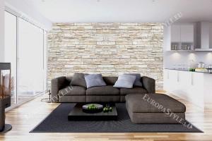 Фототапет камък реден стена перфектна имитация светъл