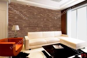 Фототапет стена от плосък камък в тъмна гама -2 варианта
